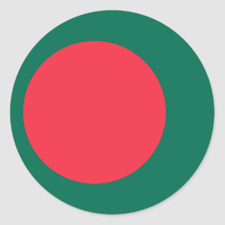 Low Cost! Bangladesh Flag Classic Round Sticker