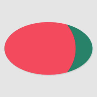 Low Cost! Bangladesh Flag Oval Sticker
