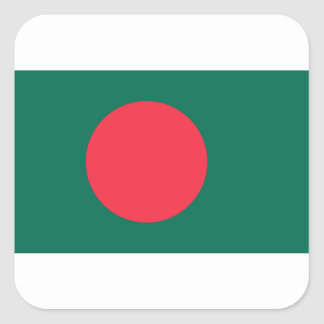 Low Cost! Bangladesh Flag Square Sticker