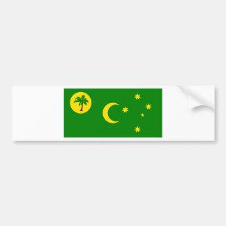 Low Cost! Cocos Island Flag Bumper Sticker