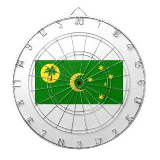 Low Cost! Cocos Island Flag Dartboard