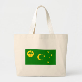 Low Cost! Cocos Island Flag Large Tote Bag