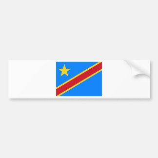 Low Cost! Congo Flag Bumper Sticker