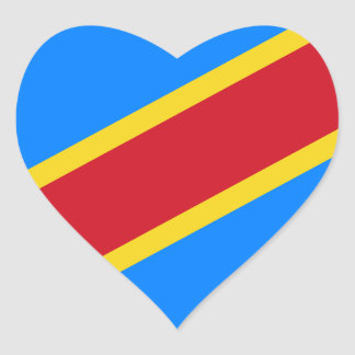 Low Cost! Congo Flag Heart Sticker
