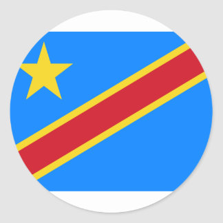 Low Cost! Congo Flag Round Sticker