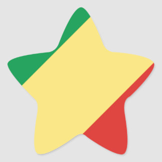 Low Cost! Congo Flag Star Sticker