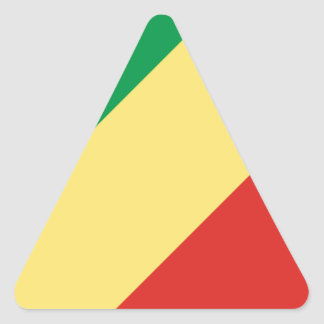 Low Cost! Congo Flag Triangle Sticker