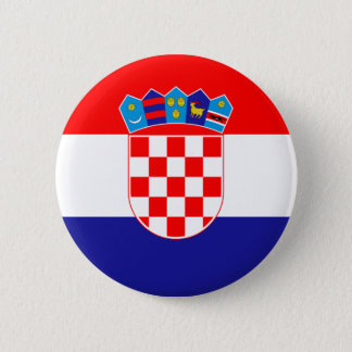 Low Cost! Croatian Flag 2 Inch Round Button