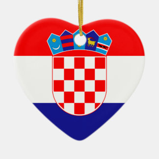 Low Cost! Croatian Flag Ceramic Ornament