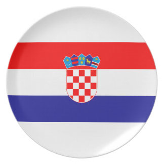 Low Cost! Croatian Flag Plate