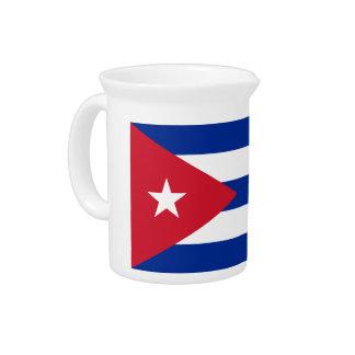 Low Cost! Cuba Flag Pitcher
