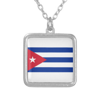Low Cost! Cuba Flag Silver Plated Necklace