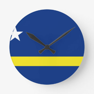 Low Cost! Curacao Flag Round Clock