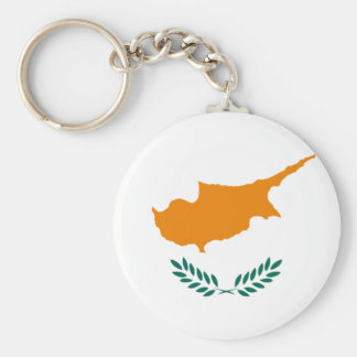 Low Cost! Cyprus Flag Basic Round Button Keychain