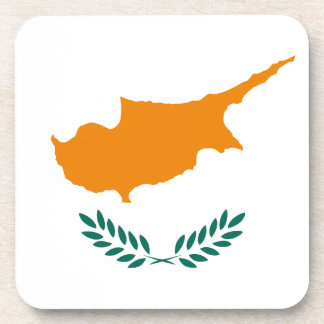 Low Cost! Cyprus Flag Coaster