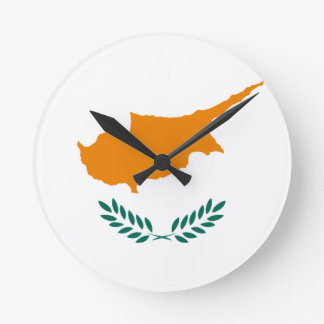 Low Cost! Cyprus Flag Round Clock