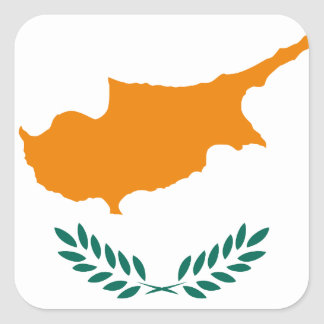 Low Cost! Cyprus Flag Square Sticker