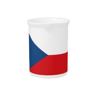 Low Cost! Czech Republic Flag Beverage Pitcher