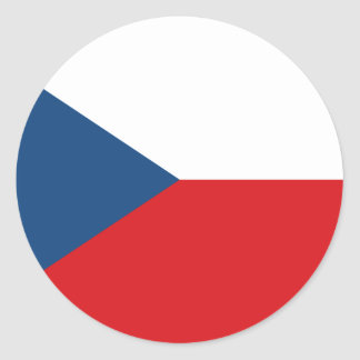 Low Cost! Czech Republic Flag Classic Round Sticker