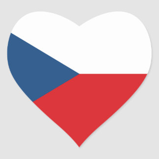 Low Cost! Czech Republic Flag Heart Sticker