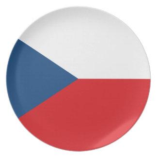 Low Cost! Czech Republic Flag Plate