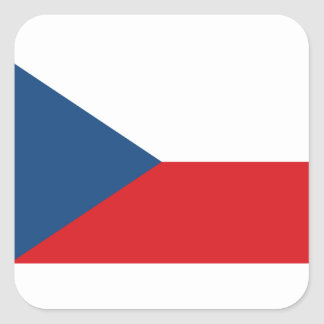 Low Cost! Czech Republic Flag Square Sticker