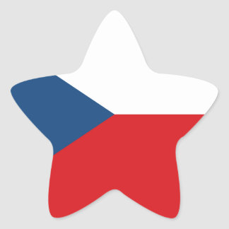 Low Cost! Czech Republic Flag Star Sticker