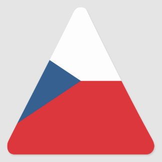 Low Cost! Czech Republic Flag Triangle Sticker