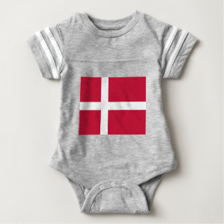 Low Cost! Denmark Flag Baby Bodysuit