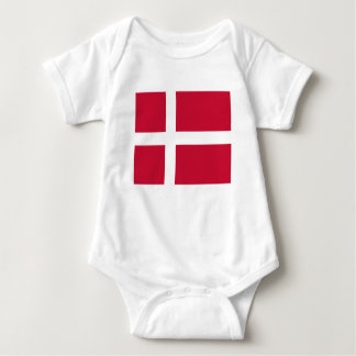 Low Cost! Denmark Flag Baby Bodysuit