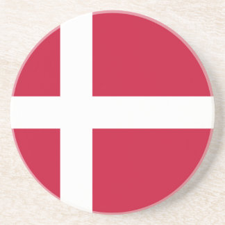 Low Cost! Denmark Flag Coaster
