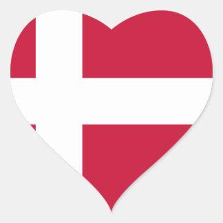 Low Cost! Denmark Flag Heart Sticker
