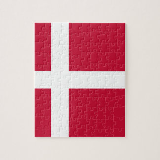 Low Cost! Denmark Flag Jigsaw Puzzle