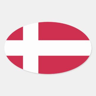Low Cost! Denmark Flag Oval Sticker