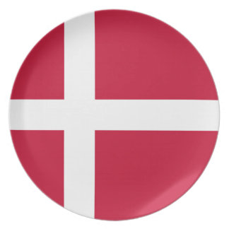 Low Cost! Denmark Flag Plate