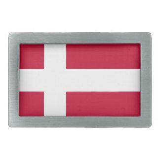 Low Cost! Denmark Flag Rectangular Belt Buckle