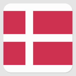 Low Cost! Denmark Flag Square Sticker