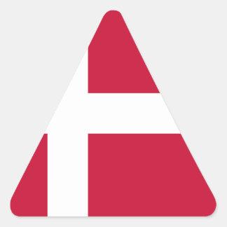 Low Cost! Denmark Flag Triangle Sticker