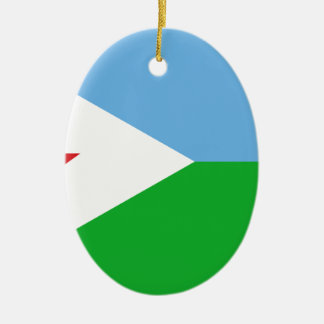 Low Cost! Djibouti Flag Ceramic Ornament