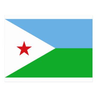 Low Cost! Djibouti Flag Postcard
