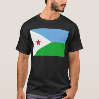 Low Cost! Djibouti Flag T-Shirt