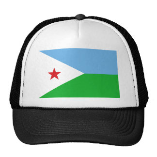 Low Cost! Djibouti Flag Trucker Hat
