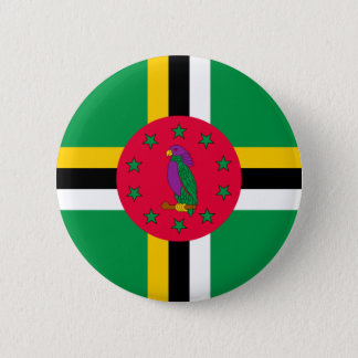 Low Cost! Dominica Flag 2 Inch Round Button