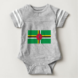 Low Cost! Dominica Flag Baby Bodysuit