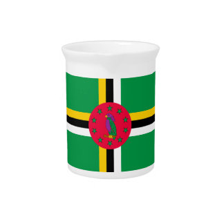 Low Cost! Dominica Flag Beverage Pitchers