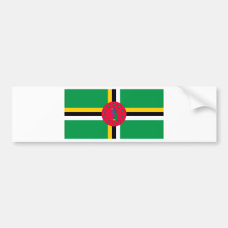 Low Cost! Dominica Flag Bumper Sticker