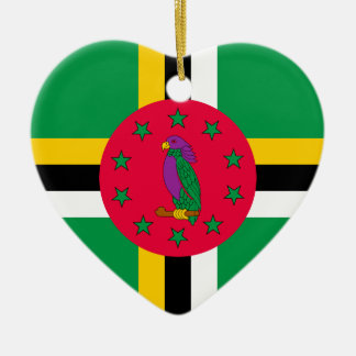 Low Cost! Dominica Flag Ceramic Heart Ornament