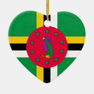 Low Cost! Dominica Flag Ceramic Ornament