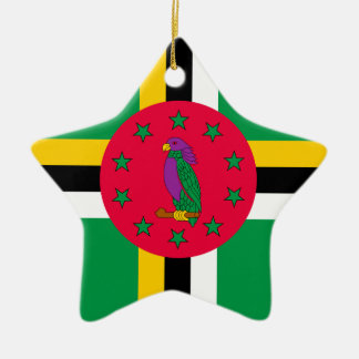 Low Cost! Dominica Flag Ceramic Star Ornament