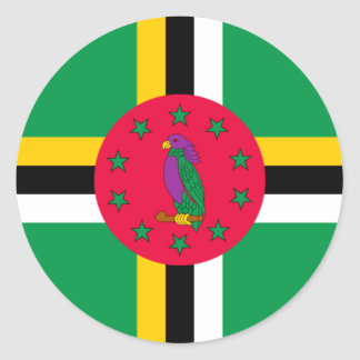 Low Cost! Dominica Flag Classic Round Sticker